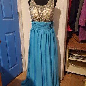 Grace Karin Blue Prom Dress